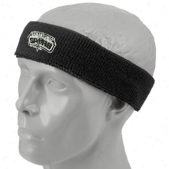 San Antonio Spurs Cap : San Antonio Spurs Negro Team Logo Headband