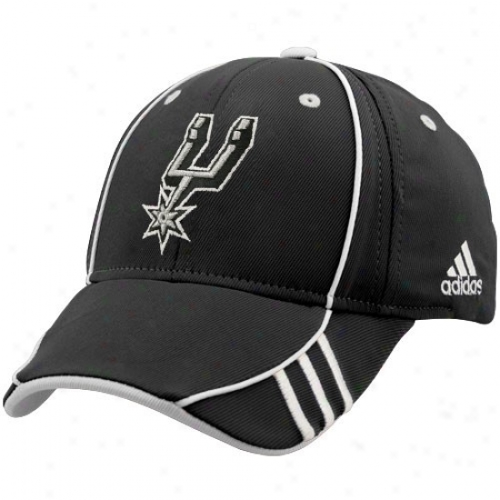 San Antonio Spurs Hats : Aridas San Antonio Spurs Black Nba 2007 Draft Day L/xl Fiex-fit Hats