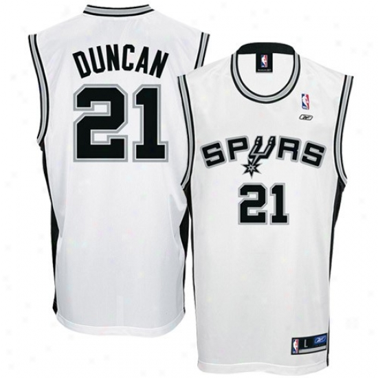 San Antonio Spurs Jerseys : Reebok San Antonio Spurs #21 Tim Duncan White Replica Basketball Jerseys