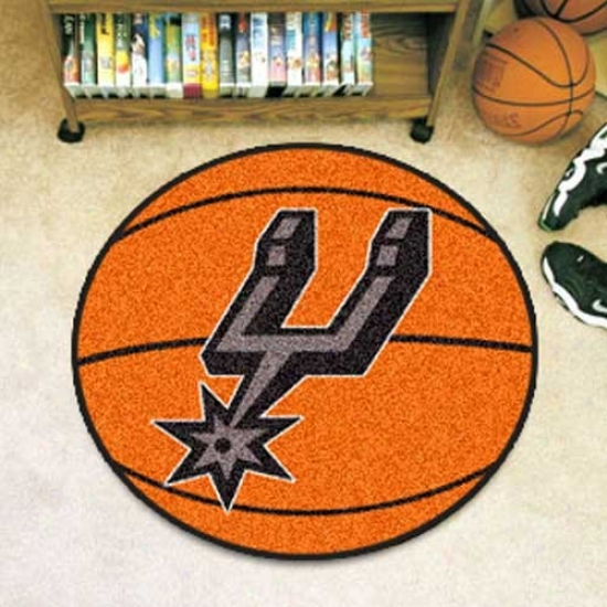 San Antnoio Spurs Orange Round Basketball Mat