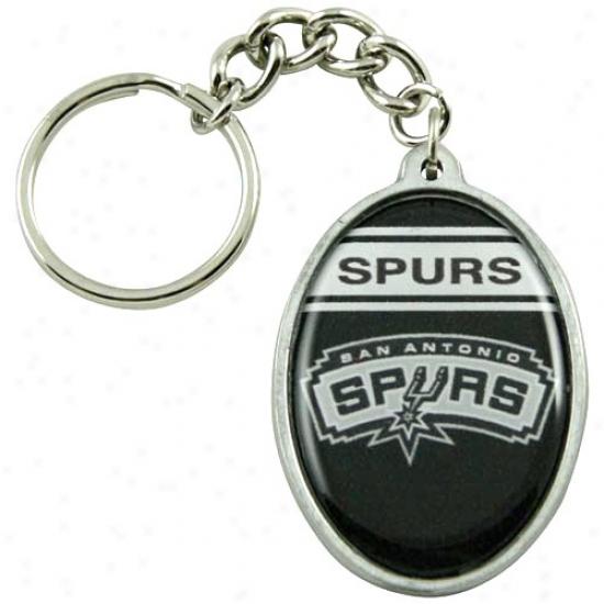San Antonio Spurs Oval Keychain