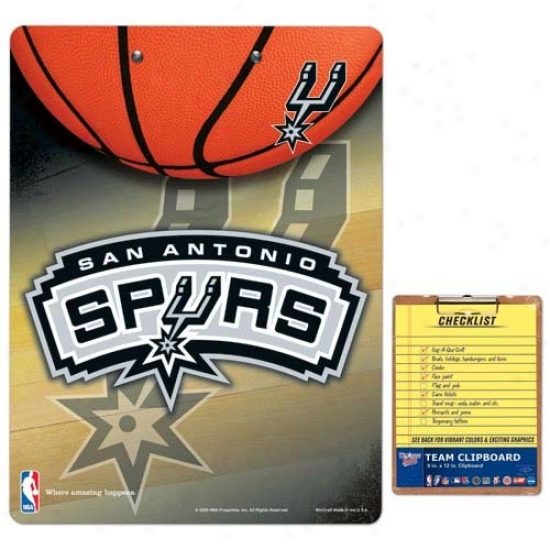 San Antonio Spurs Team Logo Clipboard