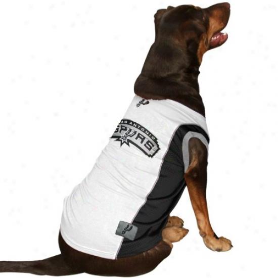 San Antonio Spurs White Pet Mesh Jersey