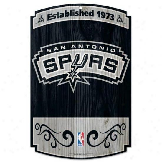 San Antonio Spurs Wood Sign