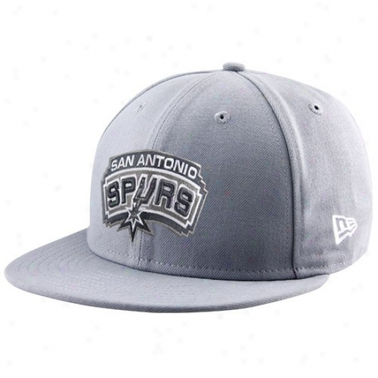 Spurs Caps : New Era Spurs Gray League 59fifty Fitted Caps