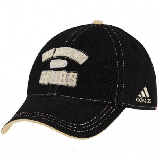 Spurs Hats : dAidas Spurs Black Adjusyable Slouch Hats