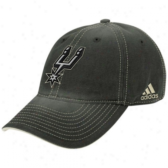 Spurs Hats : Adidas Spurs Wicked Slouch Adjustable Hats