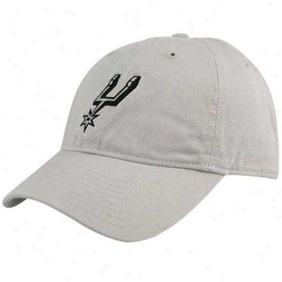 Spurs Merchandise: Adidas Spurs Gray Basic Logo Lubber Hat
