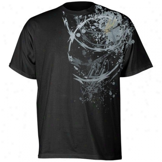 Spurs T Shirt : Adidas Spurs Black Ice T Shirt