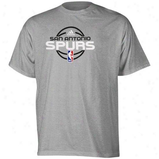 Spurs Tshirt : Adidas Spurs Youth Ash Practice Tshirt