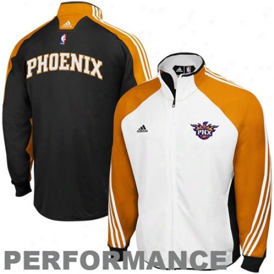 Suns Jacket : Adidas Suns White-black On Court Performance Warm-up Jacket
