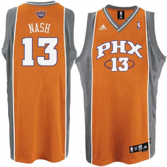 Suns Jersey : Adidas Suns #13 Steve Nash Orange 2nd Roae Swingman Basketball Jersey