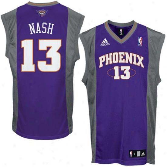 Suns Jersey : Adicas Suns #13 Steve Nash Purple Replica Basketball Jersey
