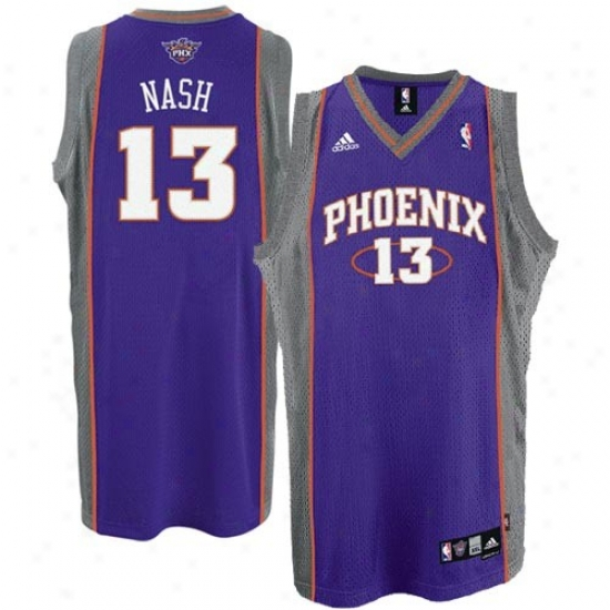 Suns Jersey : Adidas Suns #13 Steve Nash Purple Path Swingman Basketball Jersey