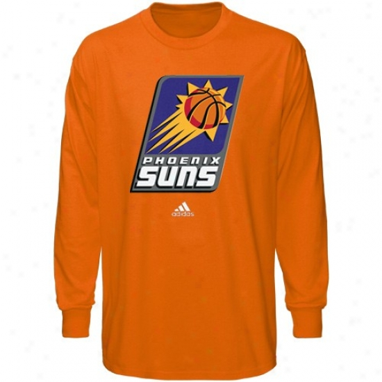 Suns Shirt : Adidas Suns Orange Full Elementary Logo Long Sleeve Shirt