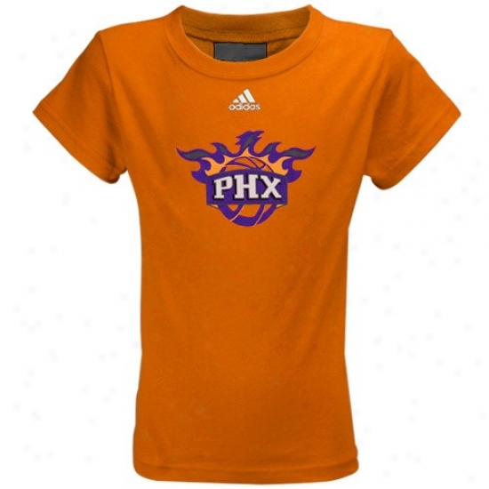 Suns T Shirt : Adidas Suns Ykuth Girls Orange Team Logo T Shirt