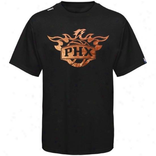 Suns T Shirt : Suns Black Foil Sport T Shirt