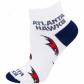 Atlanta Hawks Ladies White All Over Team Logo Anile Socks