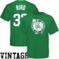 Celtics Apparel: Majestic Celtics #33 Larry Bird Kelly Green Throwback Player T-shirt