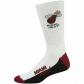 Miami Heat White Tri-colorT eam Logo Tall Socks