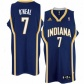 Pacers Jersey : Adidas Pacers #7 Jermaine O'neal Navy Blue Swingman Basketball Jersey