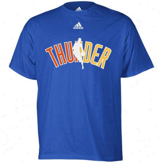 Thunder Apparel: Adidas Thunder Royal Blue 2010 Draft Dribbler T-shirt