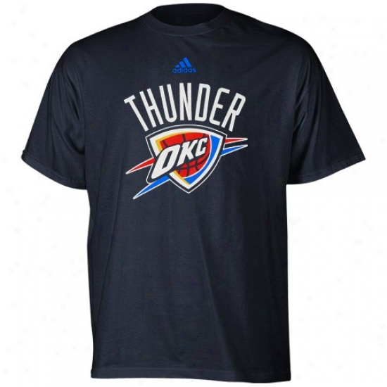 Loud noise Apparel: Adidas Thunder Youth Navy Blue Primary Logo T-shirt