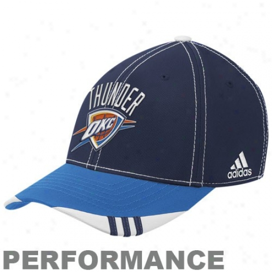Thunder Cal : Adidas Thunder Blue-navy Blue Official On Court Flex Fit Cwp