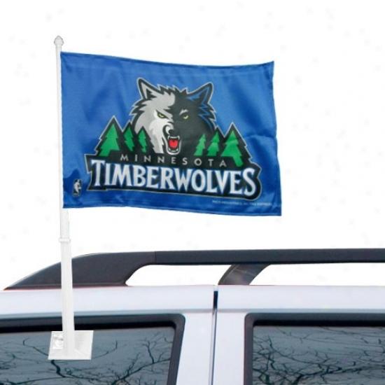 Timberwolves Flags : Timberwolves Royal Pedantic  Car Flags