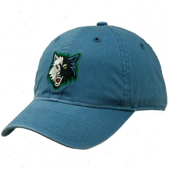Timberwolves Hat : Adidas Timberwolves Blue Basic Logo Clownish gait Hat