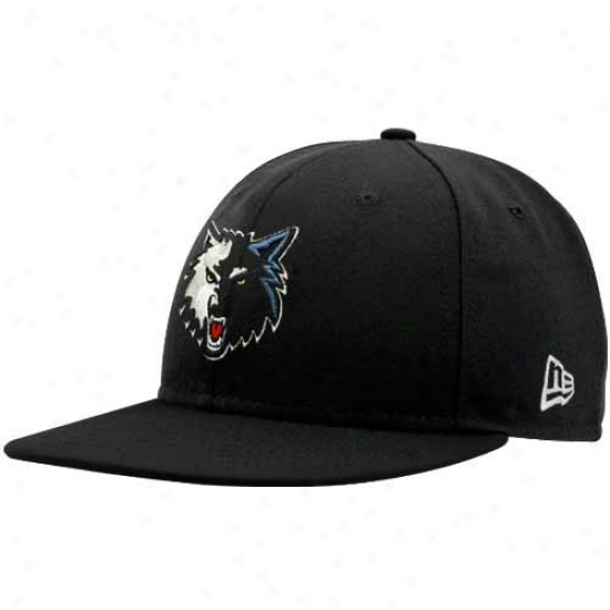 Timberwolves Hats : New Era Timberwolves Black 59fifty Fitted Hats