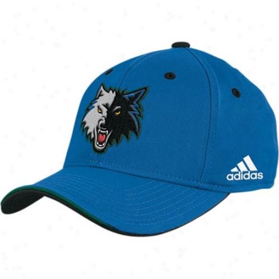 Timberwolves Merchandise: Adidas Timberwovles Azure Nba Draft Day Flex Fit Hat