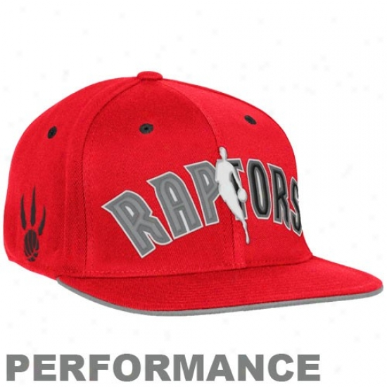 Toronto Raptor Hats : Adidas Toronto Raptor Red Official Draft Day Fitted Hats