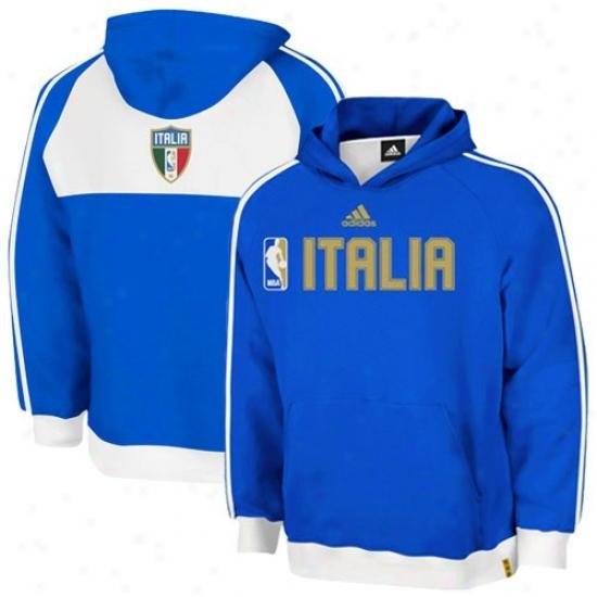 Toronto Raptor Jacket : Adidas Nba World Royal Bluw Hoody Sweatshirt