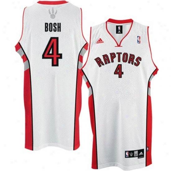 Toronto Raptor Jersey : Adidas Toronto Raptor # Chris Bosh White Home Swingman Basketball Jersey
