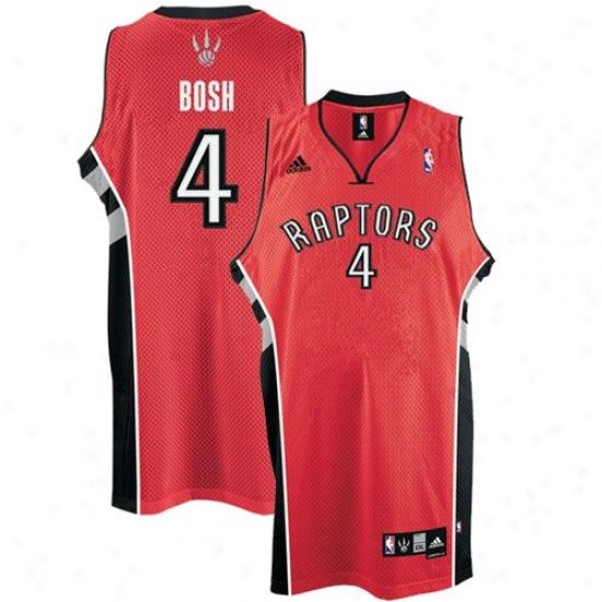 Toronto Raptor Jerseys : Adidas Toronto Raptor #4 Chris Bosh Red Road Swingman Basketball Jerseys