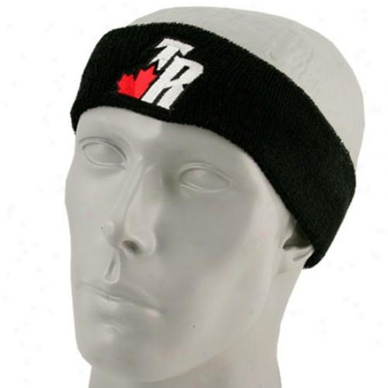 Toronto Raptor Merchandis:e Adidas Toronto Raptor Blacl Team Logo Hewdband