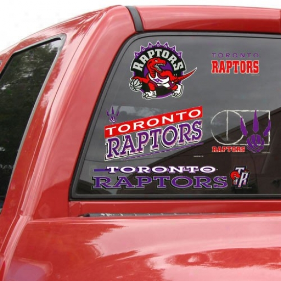 Toronto Raptors 11'' X 17'' Window Clings Sheet
