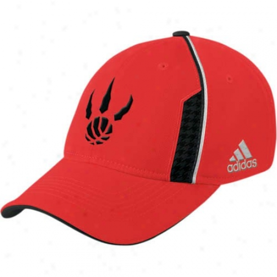 Toronto Raptors Gear: Adidas Toronto Raptors Red Official Team Flex Fit Hat