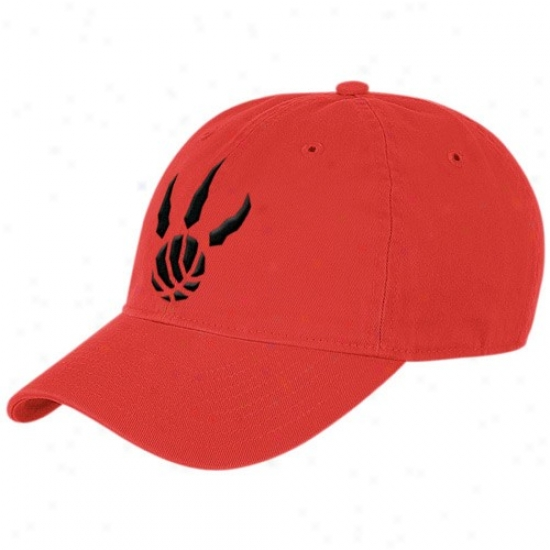 Toronto Raptors Gear: Adidas Toronto Raptores Red Basic Logo Slouch Haat