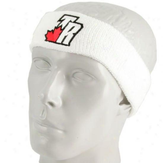 Toronto Raptors Hats : Adidas Toronto Raptors White Team Logo Headband