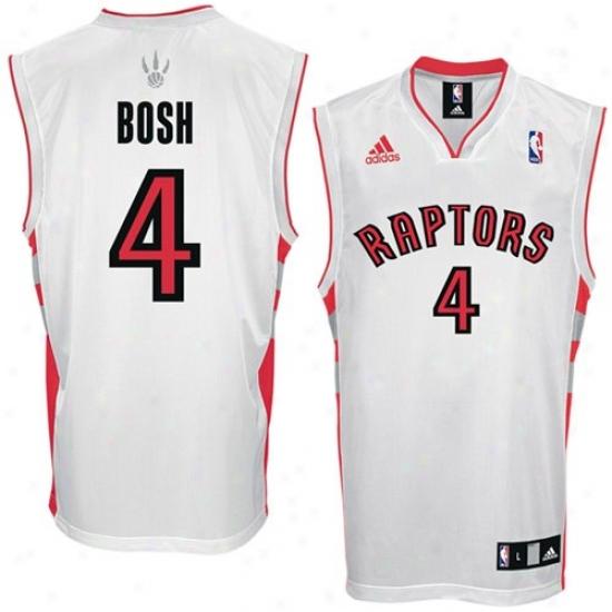 Toronto Raptors Jersey : Adidas Toronto Raptors #4 Chris Bosh White Replica Basketball Jersey
