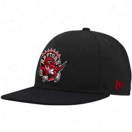Toronto Raptors Merchandise: New Era Toronto Raptors Black Logo 59fifty Fitted Hat