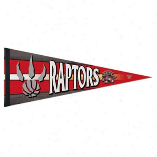 Toronto Raptors Red 12'' X 30'' Pfemium Felt Pennant