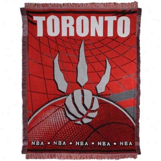 Toronto Raptors Red 48'' X 60'' Jacquard Woven Blanket Throw