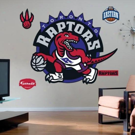 Toronto Raptores Team Logl Fathead Wall Sticker