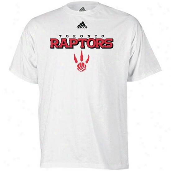 Toronti Raptors Tshirt : Adidas Toronto Raptors White True Tshirt
