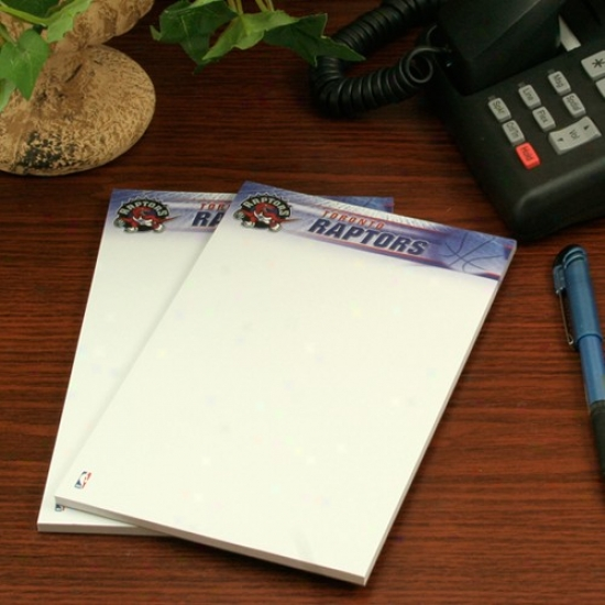 Toronto Raptores Two-pack 5'' X 8'' Team Logo Notepads