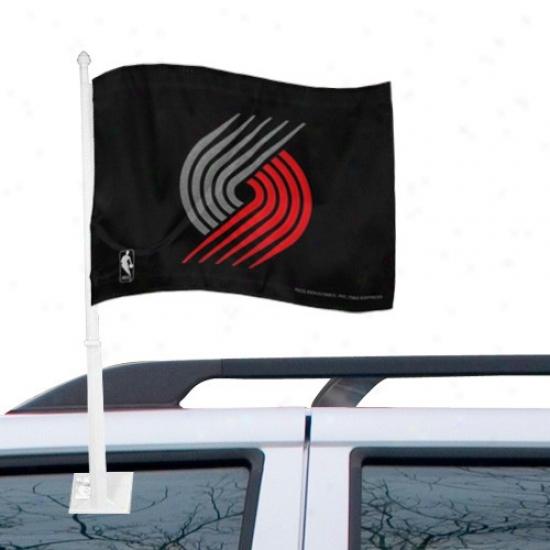 Drag Blazers Flag : Trail Blazers Negro Car Flag