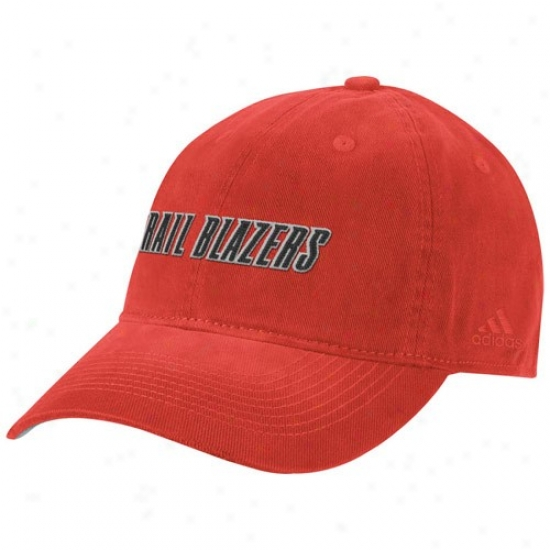 Trail Blazers Hats : Adidas Trail Blazers Red Script Lubber Hats